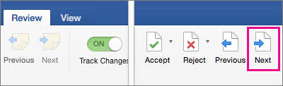 Accept tracked changes in Word - Office Support