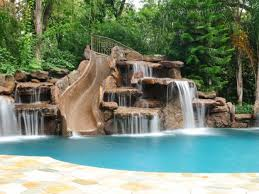 inground pools with waterfalls and slides. Pool 46 Inground Pools With Waterfalls And Slides L