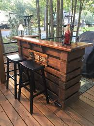Bar Made Out Of Pallets Pallet Bar Pallets Bar And Album