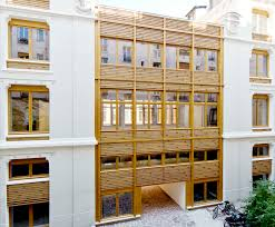 office building design ideas. Perfect Ideas Parc Architectes Renovate A 19thcentury Office Building In Paris With  Beautiful Wooden Facade Throughout Office Building Design Ideas