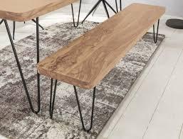 Finebuy Esszimmer Sitzbank Massiv Holz Akazie 120 X 45 X 40 Cm