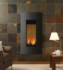 gazco studio 22 verve gas fire in graphite shown with burnt sienna fire surround tiles