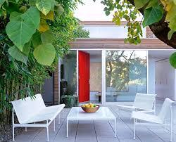 retro patio furniture Porch Midcentury with Austin ceiling fan