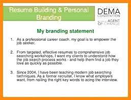 Resume Branding Statement Examples Simple 4848 Examples Of Branding Statements Elainegalindo