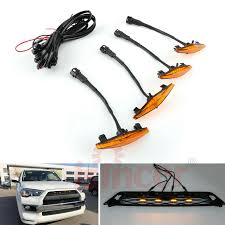 How To Install Led Lights In Car Exterior 4pcs Plastic Car Grilles Led Lights Light For Toyota 4runner