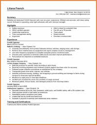 forklift operator resume | sop proposal
