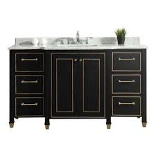 black and white vanity. Interesting And W Vanity In Black With Marble Top White On And