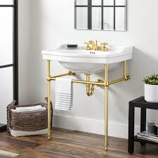 brass console sink. Simple Sink Polished Brass Throughout Console Sink O