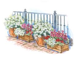 container garden plans. alternating colors container garden plan illustration plans l