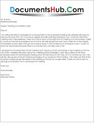 Apology Letter For Cancellation Of Business Meeting