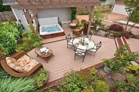 ground level deck
