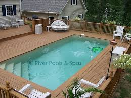 above ground pool deck designs awesome ground fiberglass pools can and should they be built of