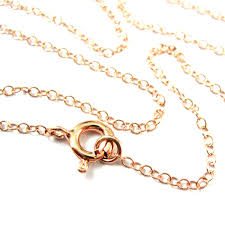 rose gold necklace rose gold plated over sterling silver chain 2mm cable chain necklace finished for pendant all sizes