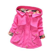 little girl causal trench coat solid hooded cotton jacket coat for 2 6years girls children kids outerwear clothes coat hot full length trench coat black