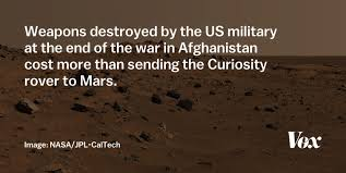 surprising things the government spends more money on than space 5 destroyed weapons cost more than the curiosity mars rover