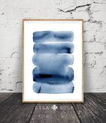 brush stroke print modern minimalist abstract watercolour wall art navy blue decor  on abstract watercolor wall art with brush stroke print modern minimalist abstract watercolour wall art