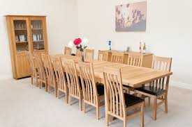 Large 12 14 Seater Oak Extending Dining Table Tallinn Free