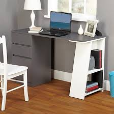 home office writing desks. Home Office Writing Desk Gray Student With Drawers Dorm Table School Computer Desks