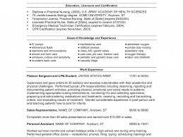 Cozy Lvn Resume Sample No Experience Resume Lvn Sample Lpn
