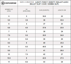 Converse Conversion Chart Converse Chuck Taylor Ballet Lace Leather Slip White Cc683mow 553376c