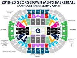 Knicks Seating Chart Mens Basketball Seating Maps Georgetown