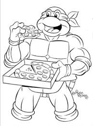 Small Picture TMNT Coloring Pages Printable Cowabunga Cartoon Classics March