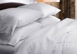 white stripe bedding set westin hotel