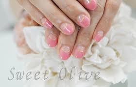 シンプルが美しいシアーピンクの逆フレンチネイル 千歳烏山芦花