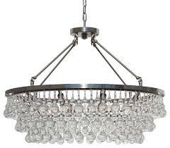 32 glass drop crystal chandelier brushed nickel