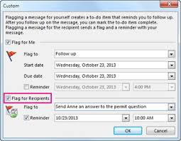 Email Reminder Send An Email Message With A Follow Up Reminder Office Support