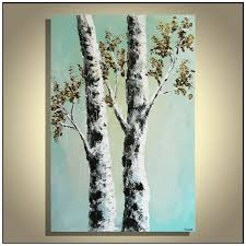 birch tree acrylic painting luxury birch tree painting original palette knife birch tree