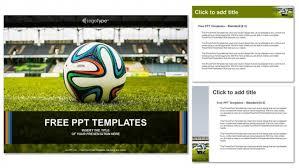 Soccer Ball On Green Grass Powerpoint Templates
