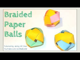 How To Make Paper Balls For Decoration Extraordinary How To Make A Paper Ball Paper Beads Braided Paper Ball