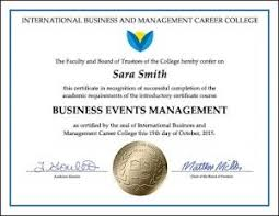 Administrative Professional Certificate Business Events Management Certificate Online Business