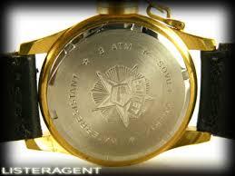 SOVIET <b>CCCP</b> Only time watch in goldplated steel <b>Black</b>. <b>NEW</b> ...