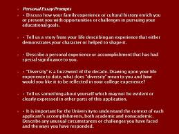 the college application essay renton high school sept oct ppt personal essay prompts iuml129frac12 discuss how your family experience or cultural history enrich you or