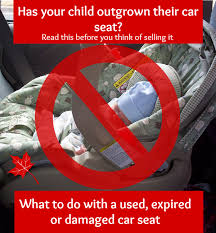 used expired or damaged car seat