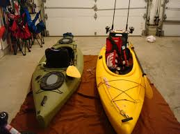 picture of rigging a sink sit in kayak for fishing