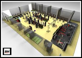 Home Gym Design Layout Commercial Interior