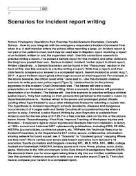 Editable Example Incident Report Writing Fill Print Download