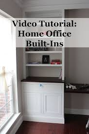 ultimate kitchen cabinets home office house. A Video Tutorial On Making Built-in Cabinets. #DIY #House #Home Ultimate Kitchen Cabinets Home Office House T