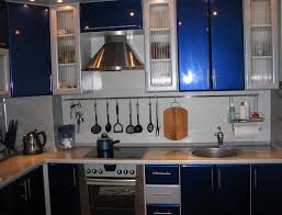 Kitchen Designs L Shaped Cool Blue And White L Shaped Kitchen Layout Ideas With Stylish