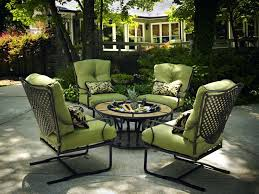 four chair patio set black wrought iron patio furniture with green deep seat cushion and small