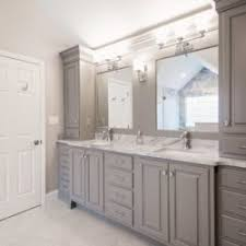 bathroom custom cabinets. Bathroom With Custom Gray Cabinets And Dual Sinks A Mirror Each Wyomissing, PA O