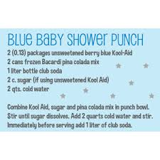 Pirate Punch At Least Thatu0027s What We Called It At My Baby Shower Blue Punch For Baby Boy Shower