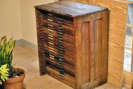 antique hamilton printers cabinet wood letterpress furniture