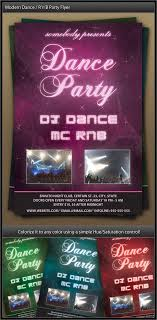 Party Flyer Cool Modern Dance R'n'B Party Flyer By Gasparbarka GraphicRiver