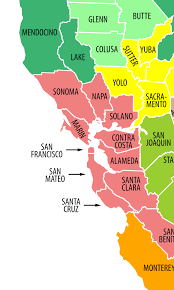 area colored map