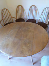 ercol dining table and chairs ebay. vintage retro ercol elm oval drop leaf table and 4 quaker chairs dining ebay