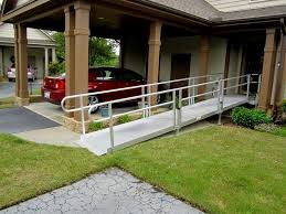 an aluminum modular ramp installed by 101 mobility